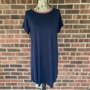 NWT Abercrombie & Fitch navy blue tee dress